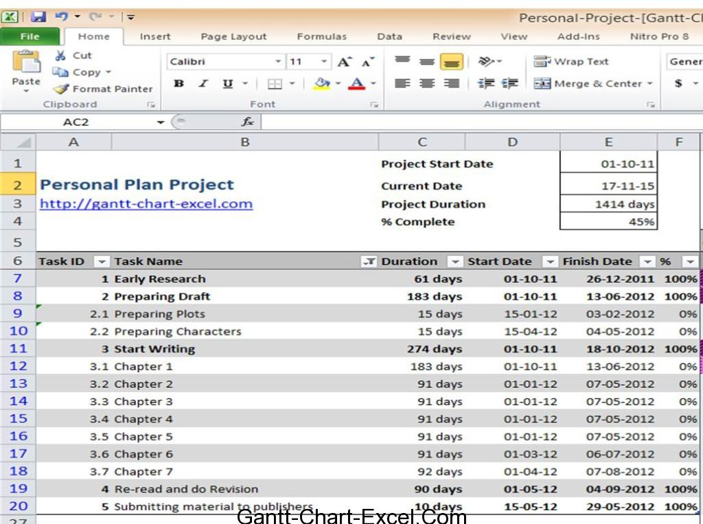excel project gantt chart template - fingradio.tk